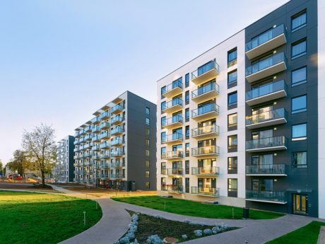 new apartment house residential building outdoor